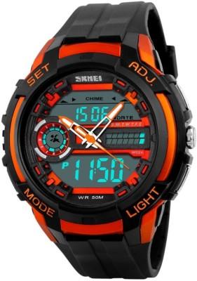 Skmei GMARKS-2021-ORANGE Sports Analog-Digital Watch For Unisex