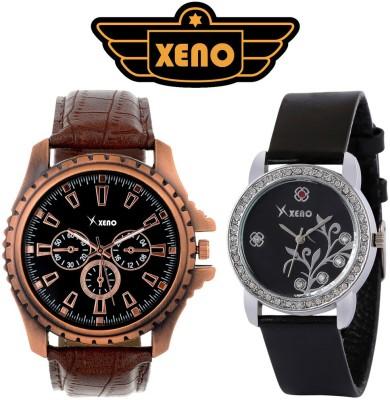 Xeno FMW78X 404 Chronograph Day Date Pattern Elite Stylish Black Modish Combo Analog Watch   For Men   Women