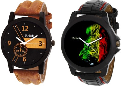 Relish RE-S8068BB Black SLIM Watch  - For Men