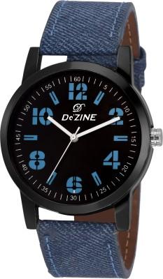 Dezine DZ-GR061-BLK-BLU  Analog Watch For Unisex