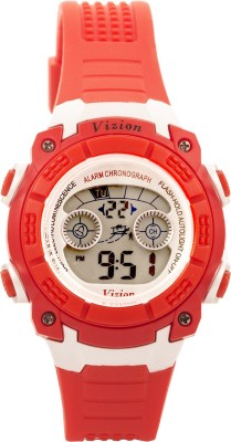 Vizion V8017B-8RED Sports Series Digital Watch For Boys