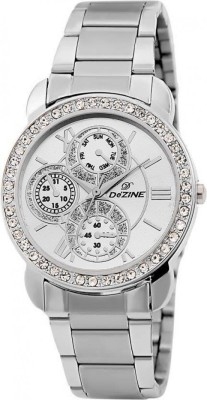 Dezine DZ-LR095-WHT-CH  Analog Watch For Girls