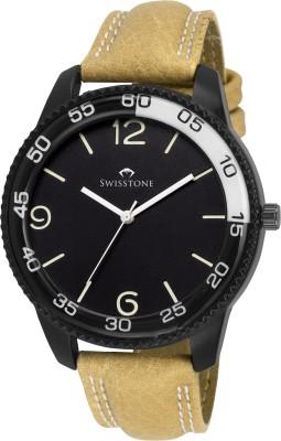 SWISSTONE GR621-BLK-TAN  Analog Watch For Men