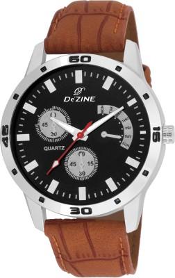 Dezine DZ GR036 BLK BRW Analog Watch   For Men Dezine Wrist Watches