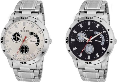 ADIXION New Chronograph Pattern, Stainless Steel Bracelet Watch Analog Watch   For Men ADIXION Wrist Watches
