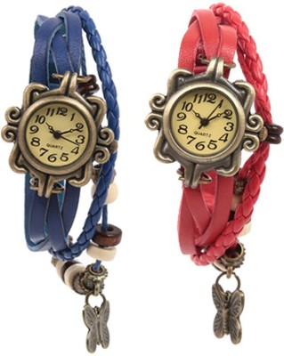 Felizo Bracelet Vintage Style Pack of 2 Analog Watch  - For Girls