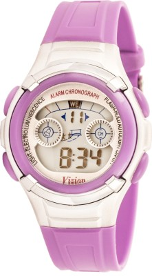 Vizion 8523B-7PURPLE Sports Series Digital Watch For Boys