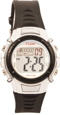 Vizion 8516-5BLACK Cold Light Digital Watch For Boys