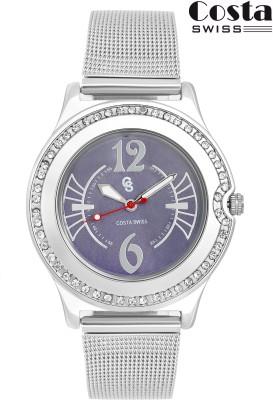 Costa SWISS CS 9005 Diva Purple Analog Watch   For Women Costa SWISS Wrist Watches