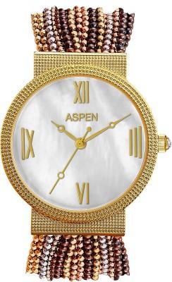 Aspen Aspen White Dial Ladies Watch  Mesmerize AP1707A Analog Watch   For Women Aspen Wrist Watches