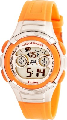 Vizion 8523B-3ORANGE Sports Series Digital Watch For Boys