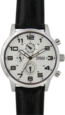 Maxima E-26612LMGS Ssteele Analog Watch For Men
