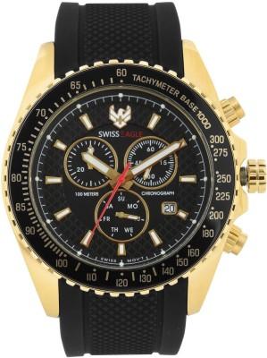 Swiss Eagle SE-9078RS-YG-01 Watch  - For Men at flipkart