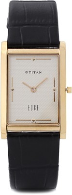 Titan Edge NH1043YL05 Cream Coloured Dial Men's Watch (NH1043YL05)