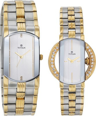 Titan NC19642964BM01  Analog Watch For Couple