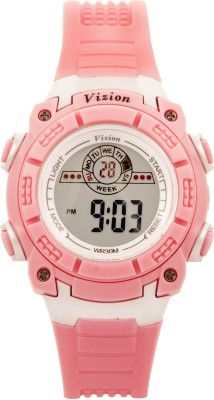Vizion V8017076-3PINK Sports Series Digital Watch For Boys