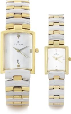 Titan NE19402940BM01  Analog Watch For Couple