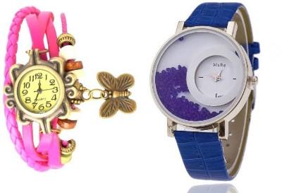 MxRe Pink-Blue-Wrist Watch  - For Women