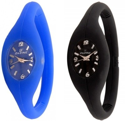 Dezine CMB-ACC-BLU-BLK CMBS Analog Watch For Couple