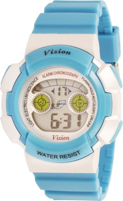 Vizion 8540B-5BLUE Cold Light Digital Watch For Boys