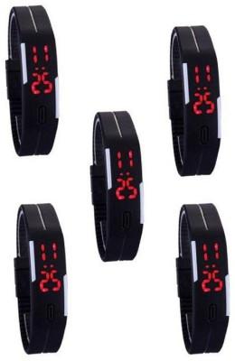 @rmgadgets arm_led_black_5 Digital Watch  - For Couple