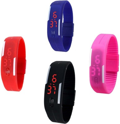RTimes Silicon Jelly Led Combo Digital Watch  - For Men & Women