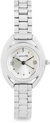 Sonata 8960SM01 Analog Silver Dial Women's Watch (8960SM01)