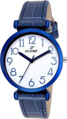 Dezine DZ-LR093-WHT-BLU  Analog Watch For Girls