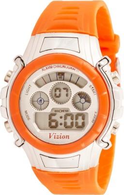 Vizion 8516B-2ORANGE Sports Series Digital Watch For Boys