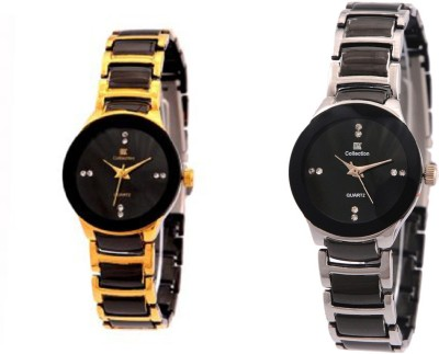 IIK Collection Gold-Silver Analog Watch  - For Women   Watches  (IIK Collection)