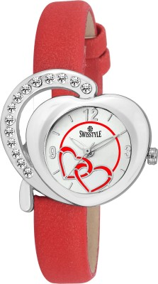 Swisstyle SS-LR330-WHT-RD  Analog Watch For Women