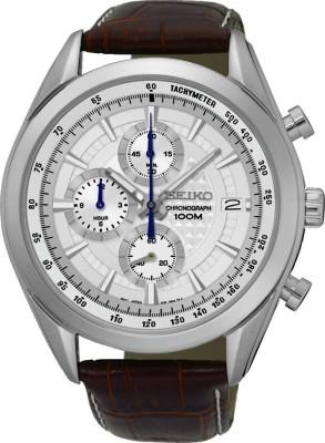 Seiko Analog White Dial Men's Watch, SSB181P1