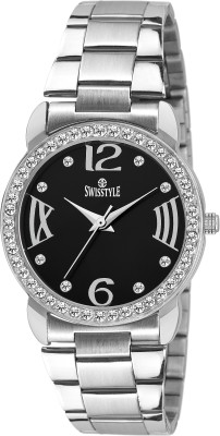 Swisstyle SS-LR098-BLK-CH  Analog Watch For Girls