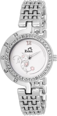 Ziera ZR8026 Special Stylish Silver Titan_ium Analog Watch For Girls