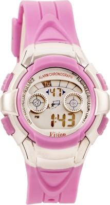 Vizion 8512B-6PURPLE Cold Light Digital Watch For Boys