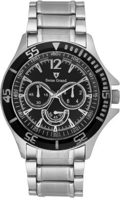Swiss Grand S SG 0810_Black Analog Watch   For Men Swiss Grand Wrist Watches