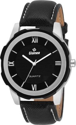 Gionee g027 Analog Black Round Dial with Heavy Two Tone Case and Leather Strap Watch  - For Men