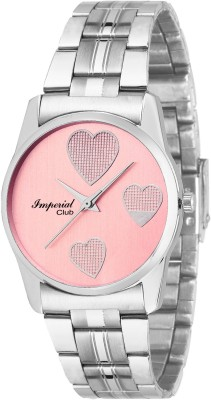 Imperial Club Checks Printed Hearts Valentine Affair Analog Watch   For Women Imperial Club Wrist Watches