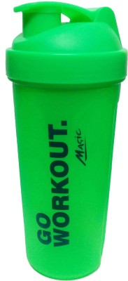 NAUGHTY BEAR GYM SHAKER 600 ml Water Bottle(Set of 1, Green)  available at flipkart for Rs.225