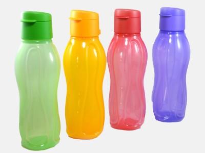 Tupperware tupperware flip top water bottle 310 ml Bottle(Pack of 4, Multicolor)