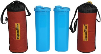 Signoraware Sporty Water Bottle With Bag 890 ml Water Bottles(Set of 2, Blue)  available at flipkart for Rs.660