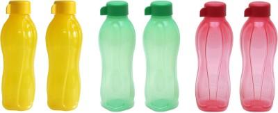 Tupperware Half-981 500 ml Bottle(Pack of 6, Yellow, Green, Red) at flipkart