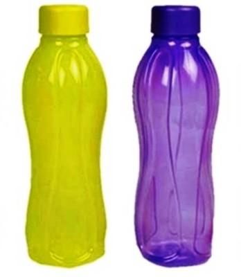 Tupperware Aquasafe 500 ml Bottle(Pack of 2, Purple, Yellow)