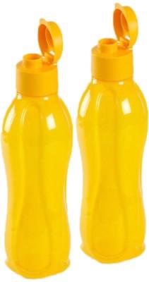 Tupperware Fliptop 750 ml Water Bottles(Set of 2, Yellow)