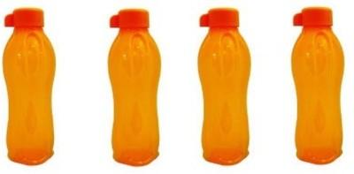 Tupperware Aquasafe 500 ml Water Bottles(Set of 4, Orange)