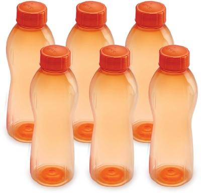 Cello Twisty 1000 ml Water Bottles(Set of 6, Orange)