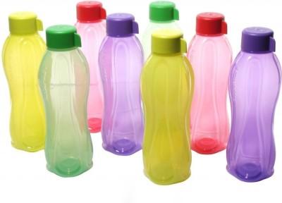 Tupperware Round Bottle bottles 1000 ml Bottle(Pack of 8, Multicolor)