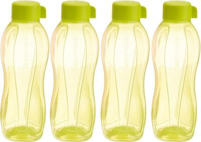 Tupperware Aquasafe 1000 ml Water Bottles(Set of 4, Yellow)