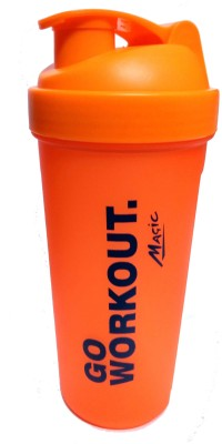 NAUGHTY BEAR GYM SHAKER 600 ml Water Bottle(Set of 1, Orange)  available at flipkart for Rs.225