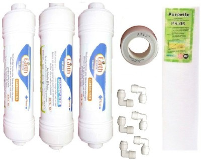 Earth Ro System Ro Service Inline Filter set mudl5 Solid Filter Cartridge(0.5, Pack of 11) at flipkart